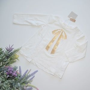 ⏰LAST CHANCE⏰ ZARA BabyGirl Tee with Sequinned Bow